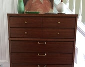 Reserved for Megan HIGHBOY DRESSER Midcentury Modern Walnut Wood Body Formica Laminate Top Original Vintage Retro c1960