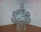 Lars Hellsten 1960s Skruf Sweden Art glass crystal heart candlestick holder