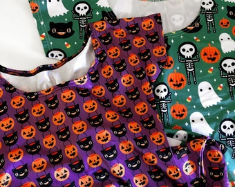 Pumpkin Halloween Skater Fit and Flare Dress - Size S-3X