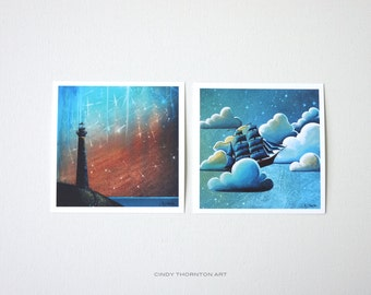 Seafarer Series Mini Print Set - 'Such A Night As This' & 'Astronautical Navigation' - Signed
