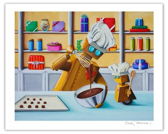 Robot Series Limited Edition - The Chocolatiers - Signed 8x10 Semi Gloss Print (4/10)