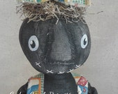 Primitive Black Stump pumpkin girl