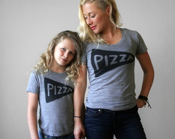 Mommy and Me Matching Pizza T Shirts, funny matching outfit gift for her t-shirt womens mother child, matching shirts, mom baby, mom gift