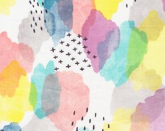 Cloud9 Brush Strokes Canvas Organic Cotton Fabric