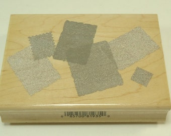Background Template H2190 Geometric Squares Rectangles Wood Mounted Rubber Stamp By Hero Arts