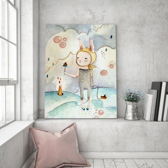 La Marea I - Girl Art - Holli - Nursery Wall Art - Nursery Decor - Childrens Art - Kids Wall Art - Nursery Art