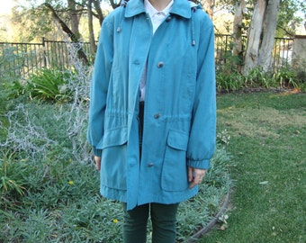 Vintage Oversized Teal Windbreaker L/XL