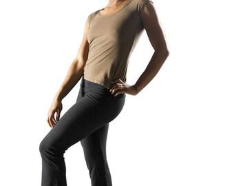 Size XL // Dance Pants // Yoga Pants // Organic Cotton & Hemp w/lycra // Eco Fashion // XL