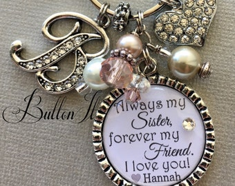 SISTER jewelry, Sister gift, AUNT gift, Big sister,  Sister quote, birthday gift, Initial, Only thing better than having you for a sister