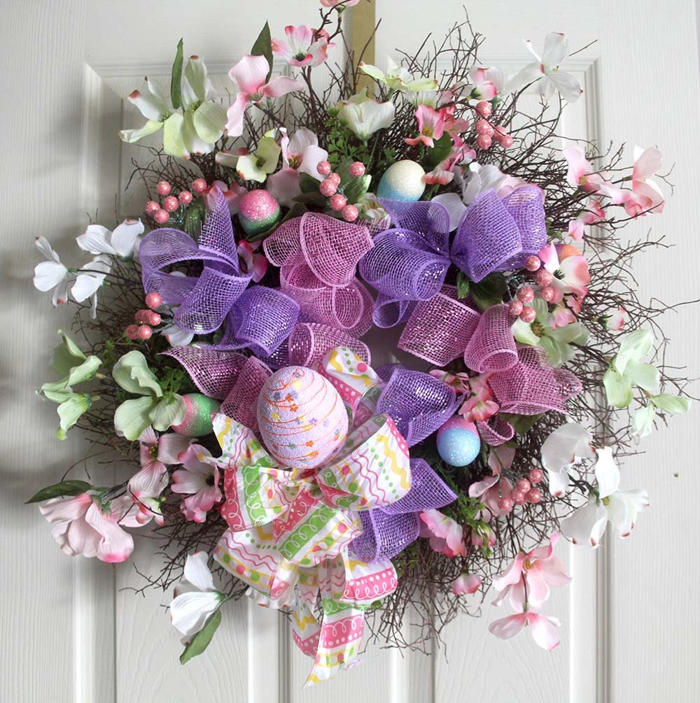 Easter Wreath Easter Egg Wreath Spring Wreaths Easter