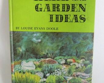 Vintage Children's Gardening Book - Herbs -  Perennials  -  Illustrated  -  Indoor Plants - Woodland - Birds - Bird Feeder - 1960s
