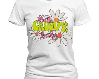 Women's Ink and Watercolor Groovy Tee S M L