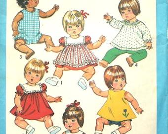 """Doll Wardrobe for 15 - 17"""" Inch Dolls Simplicity 9508"""
