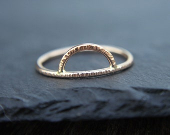 Arc ring - minimalist ring - sunrise ring - silver, gold, or rose gold - dainty ring - stacking ring - arch ring