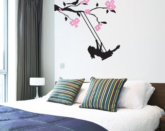 Floral Branch Swing - Wall Decal