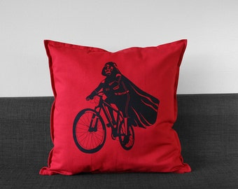 "Darth Vader Is Riding It Throw Pillow Case, star wars pillow cover, housewarming gift, geek home decor, 20""x20"""