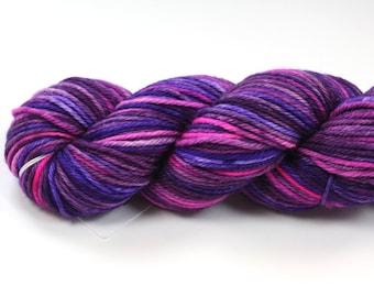 Lisa Frank Fantasy--hand dyed worsted weight, merino superwash (218yds/100gm)