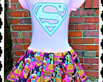 Super Girl dress  4/5  10/12 14/16 ready to ship