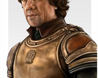 Game of Thrones Tyrion Lannister Peter Dinklage Digital Painting Art Print 11 x 17