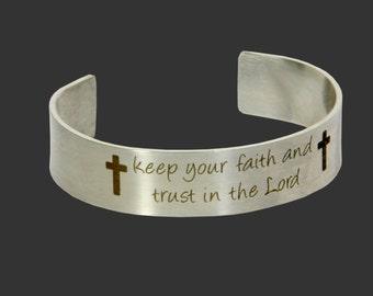 Cross Jewlery, Faith Jewelry, Religious Jewelry, Christian Jewelry, Spiritual Jewelry, Faith Bracelet, Christian Bracelet Religious Bracelet