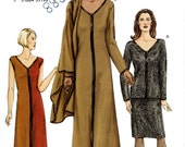 Vogue 7614 Easy Knit V Neckline Top Dress Skirt Shawl Size 8 10 12 Uncut Sewing Pattern 2002