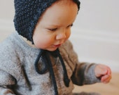 Hand knit heirloom baby bonnet