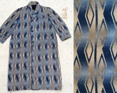vintage ca. 1930s Beacon indigo ombré cotton blanket robe