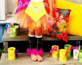 Girls Ruffle Tutu Leg Warmers - Perfect for Birthday, Costume, Photo Prop, Dress up, Fits Girls 6M-6X - Rainbow Lace up Converse
