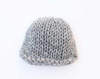 Grey baby hat, baby boy hat, baby hat, newborn hat, newborn boy hat, baby boy, boys newborn hat, knit baby hat, photography prop