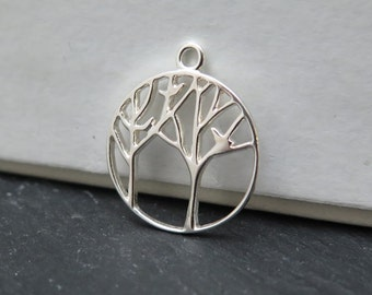 Sterling Silver Woodland Pendant 17mm (CG8303)