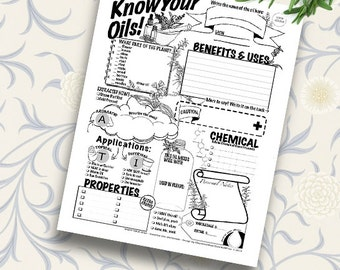 Printable Essential Oil Coloring Worksheet
