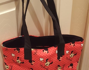 Minnie mouse tote,  red