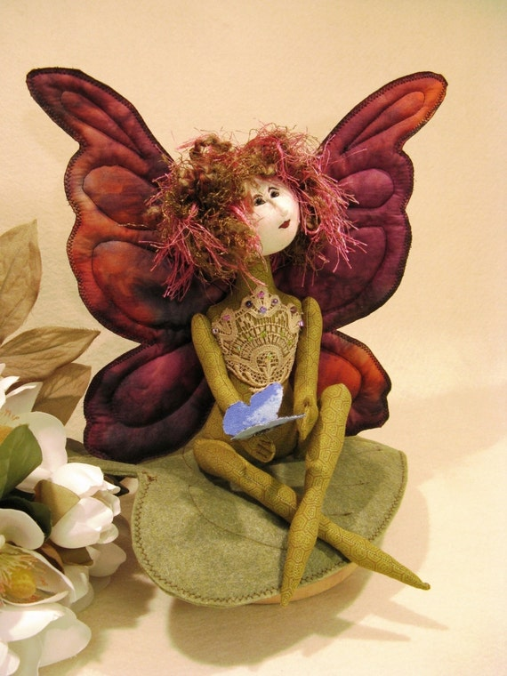 Mailed Cloth Doll Pattern 11 inch Fairy Butterfly Doll