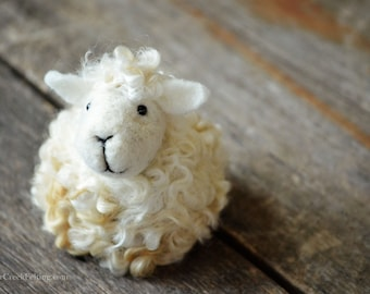 Needle Felted Sheep | Solid Wool