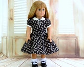 Daisy Doll Dress with Peter Pan Collar, fits American Girl Doll, AG Doll Clothes Classic Style Dress