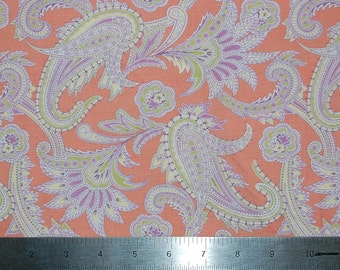 Amy Butler Gypsy Caravan Turkish Paisley - Tangerine - Fabric By The Yard - Ronan Westminster Fibers