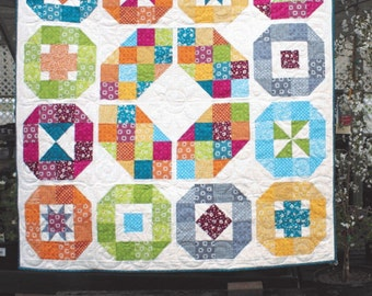 """Lacuna Sampler Quilt Pattern, 63"""" x 63"""" #117, AnneMarie Chany for Gen X Quilters, Fat Quarter Friendly,"""