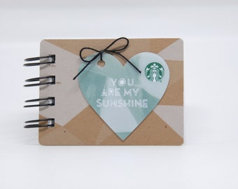 STARBUCKS Notebook - Mini Valentine's Gift Card covers front and back
