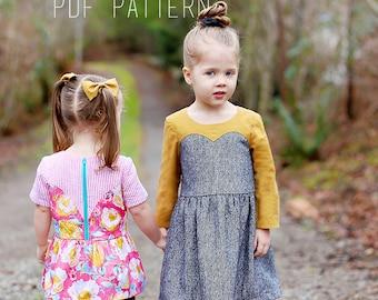 Magrath Dress & Tunic PDF Pattern - Girls Sweetheart Dress