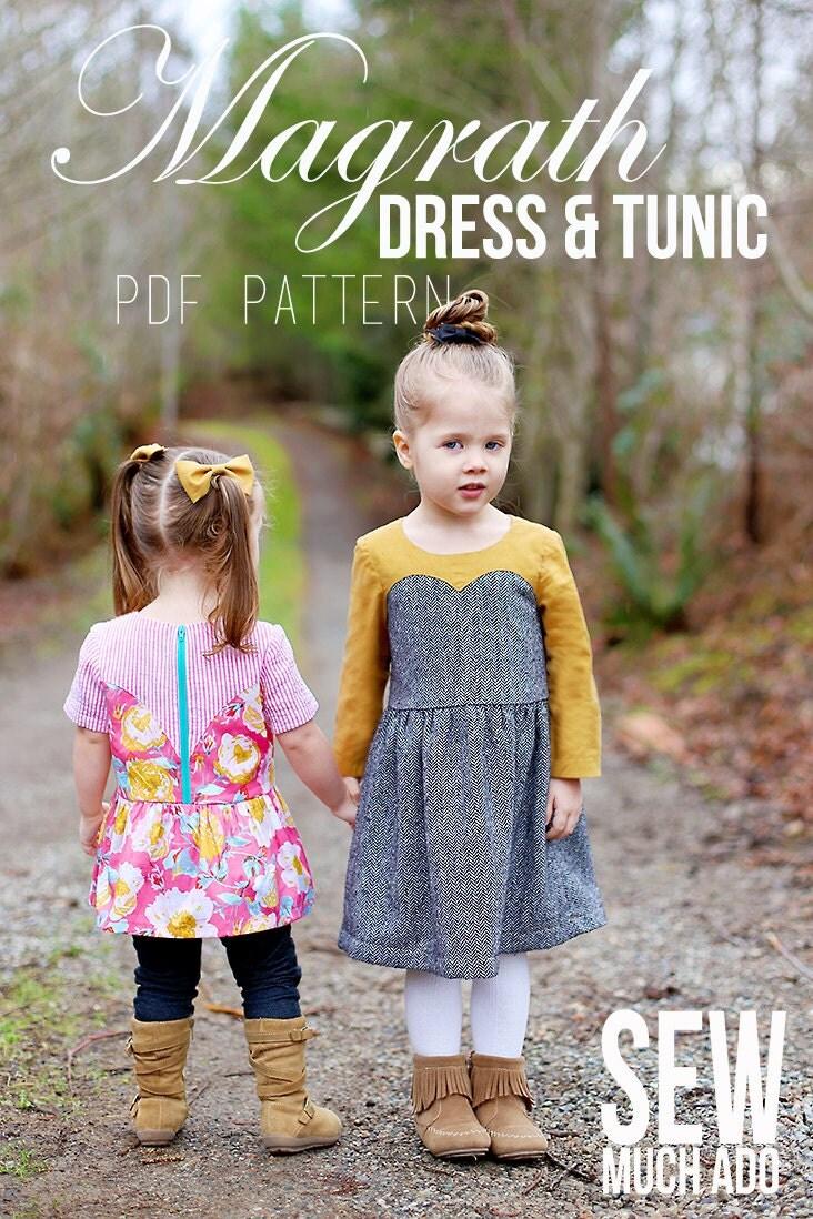 Magrath dress tunic pdf pattern girls sweetheart