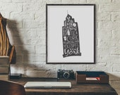 New York City 8x10 Art Print