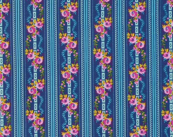 SALE 1 yard - Happy Land by Jennifer Paganelli - Martha JP067 Midnight