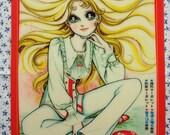 Vintage Japan Margaret Large Anime Retro Girl Underlay Artwork