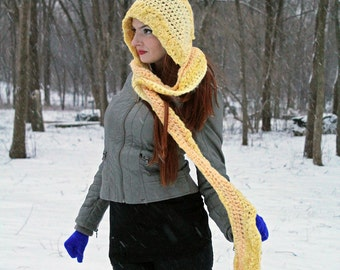 Yellow Hooded Scarf