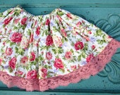 Ready to ship - twirl skirt - toddler skirt - boho skirt -  flower skirt - Easter skirt - cottage chic - summer skirt - bohemian skirt