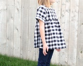 NEW - Fall Buffalo Check Top in Black/White - Available in Custom Sizes