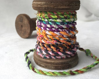 Spool of Handmade Fabric Twine  T401