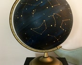 Vintage globe handpainted with accurate constellations!