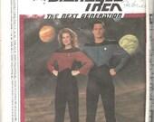 Simplicity 9394 1980s Misses Star Trek Costume Pattern TNG Pattern Womens Trekkie Vintage Sewing Sizes 6 8 10 12 14 16 Bust 30 - 38 UNCUT