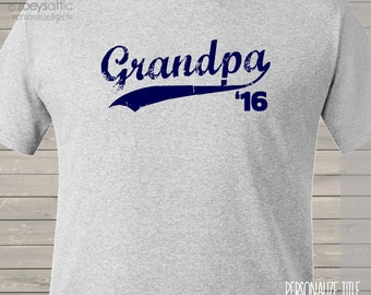Grandpa shirt - swoosh with any year great for Father's Day and surprise pregnancy announcement t-shirt MDF1-081